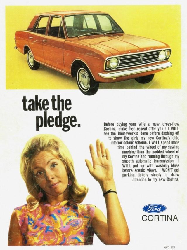 1969 Ford Cortina take the pledge