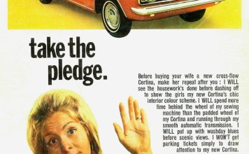1969 Ford Cortina take the pledge