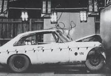 30mph barrier testing of the MGB GT V8 model
