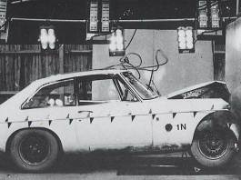 30mph barrier testing of the MGB GT V8 model
