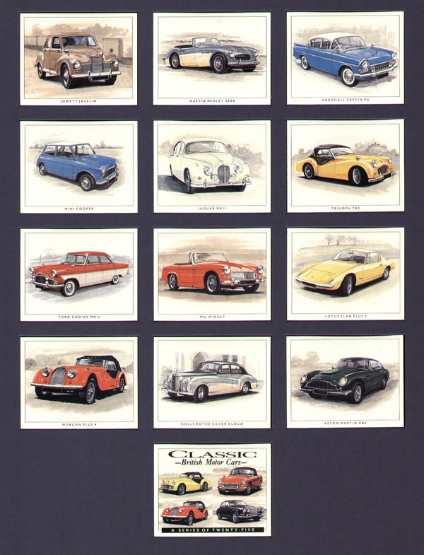 Classic British Motor Car cards
