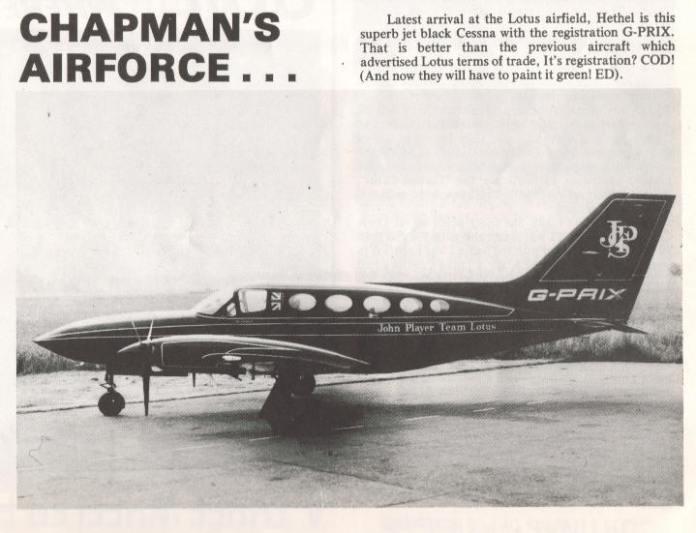 John Player Special Cessna 414 G-Prix