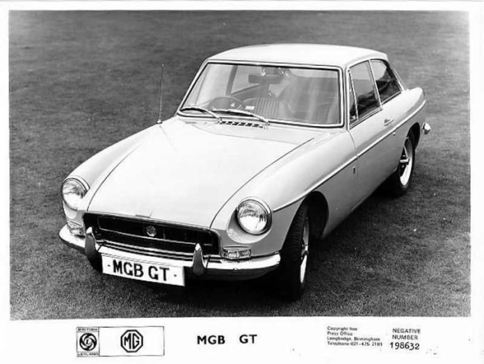 MGB GT factory promo photo