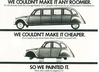 Painted Citroen 2CV Dolly ad