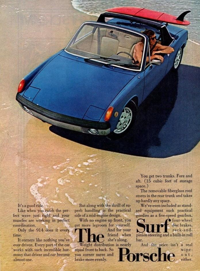 Porsche 914 surfboard ad