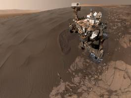 "self-portrait of NASA's Curiosity Mars rover shows the vehicle at ""Namib Dune,"""