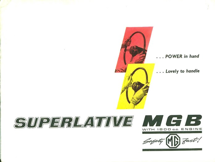 Superlative MGB Roadster 1962 brochure