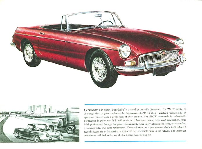 MG MGB Roadster 1962 brochure Red