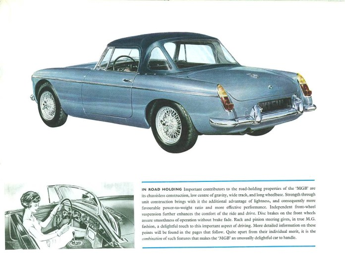 MG MGB Roadster 1962 brochure -- lovely to handle