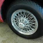 MG wire wheels looking good