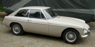 1967 MGB GT in Sandy Beige