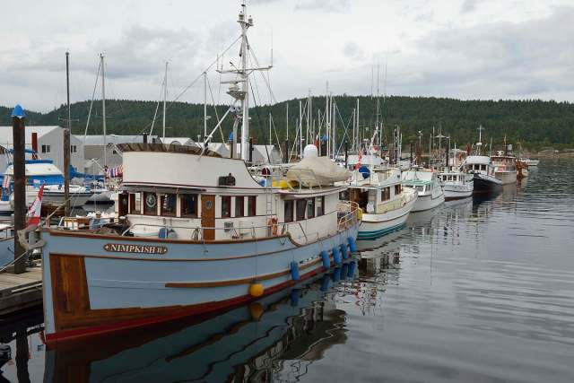 Old boats at the Ladysmith Maritime Festival on Vancouver Island