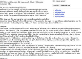 1999 Chevrolet Cavalier ad