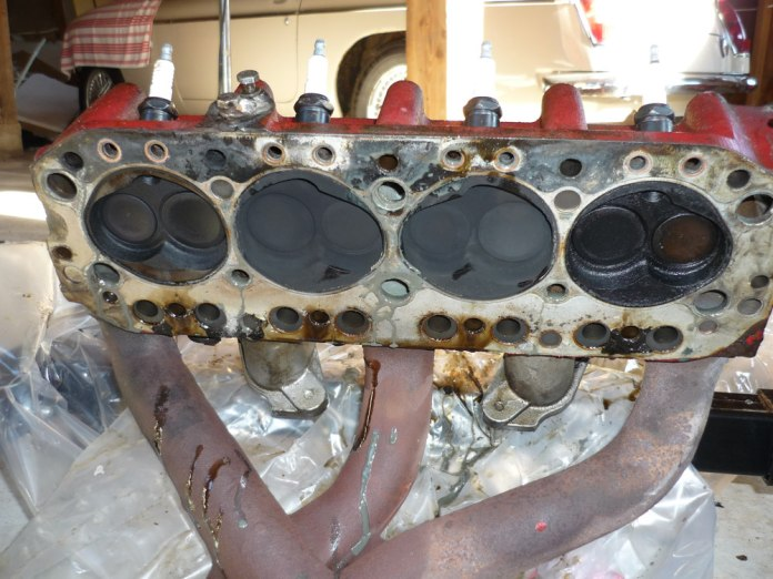 Valves in the MGB GT cylinder head