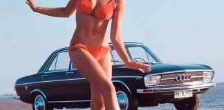 Audi bikini girl on the beach.