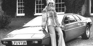 1977 Lotus Esprit S1 with chick in fur coat
