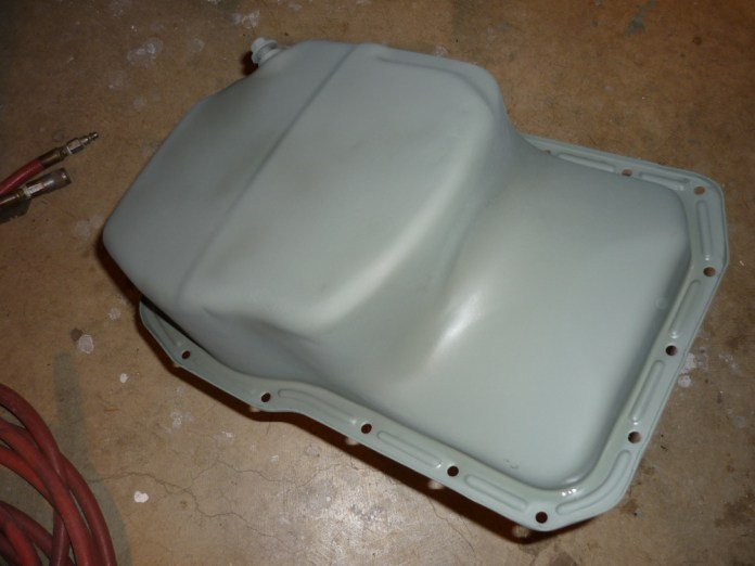 1972 MGB oil pan in grey primer