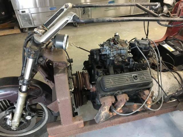 Honda Trike with MGB body and Vortec Chevy V6