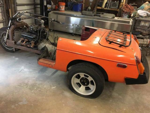 Honda Trike with MGB body and Vortec Chevy V6 includes flat tires