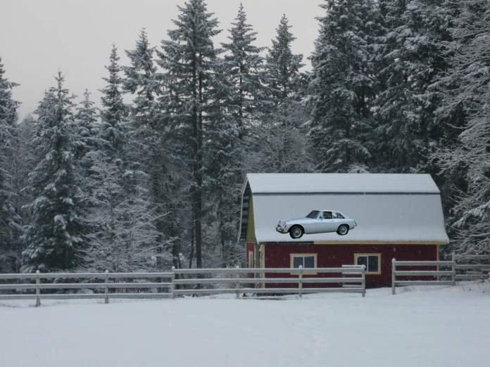 MGB in the barn