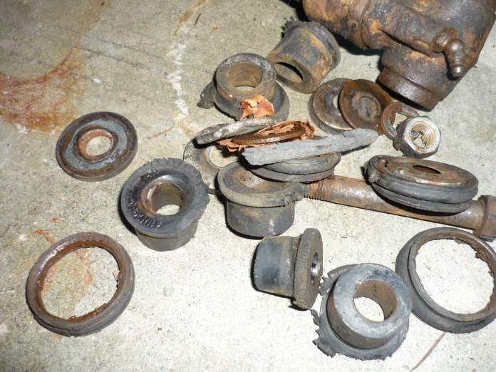 Old MGB front suspension bushings