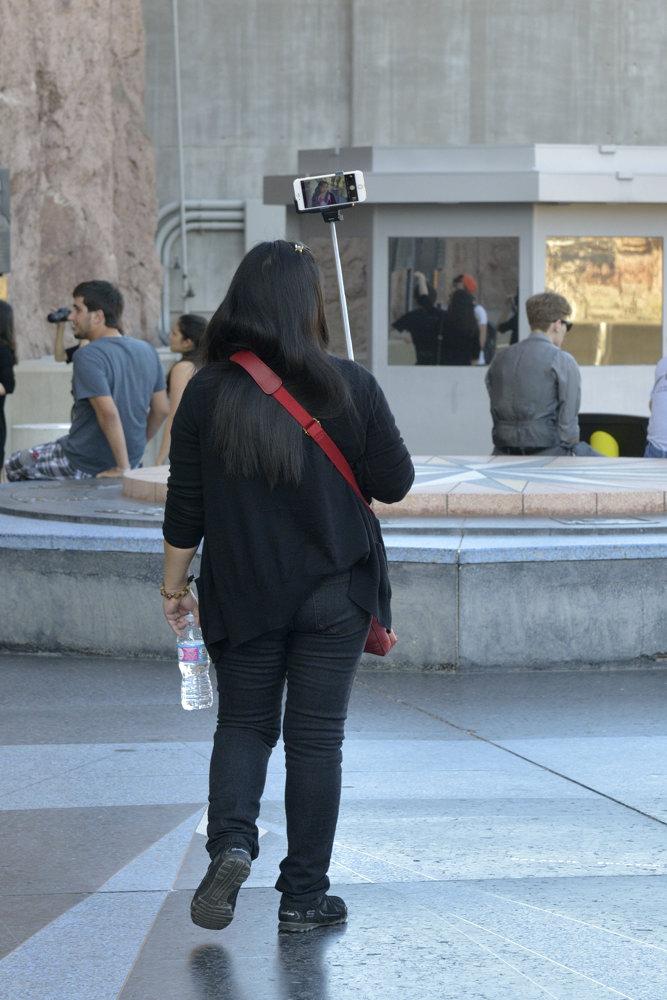 Women shooting a selfie video