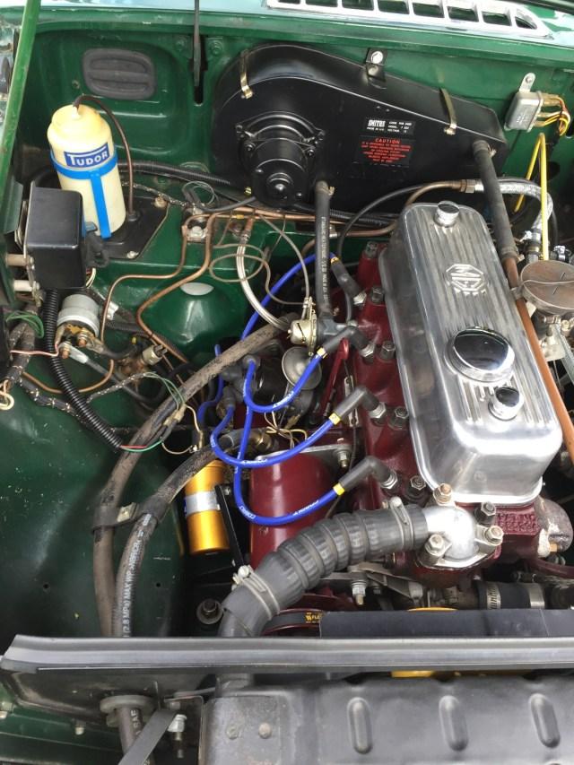 BRG 1967 MGB GT engine