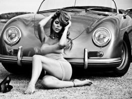 Porsche chick with 356