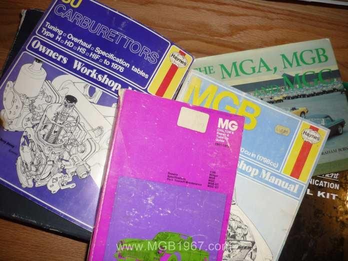 MGB workshop manuals