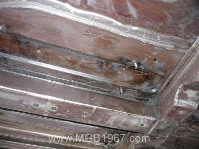 Underside of MGB floor pans