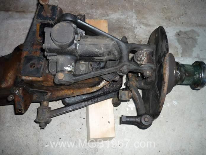 Filthy MGB GT suspension