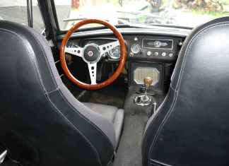 1967 MGB GT interior with Mazda Miata seats