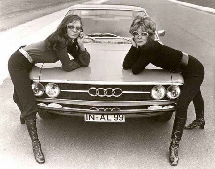Audi girls with cool glasses