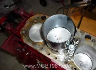 Installing MGB GT pistons