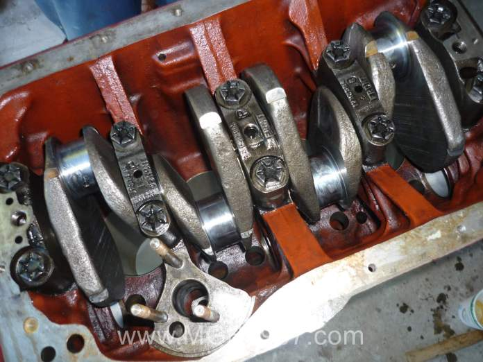 MGB GT crankshaft installed