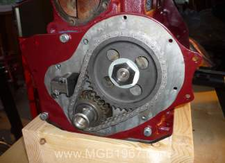 MGB chain tensioner installed