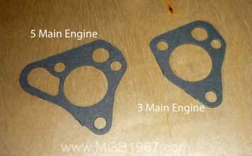 MGB engine oil pump gaskets