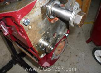 New MGB camshaft from the front