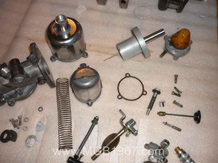Exploded SU HS4 Carburetor
