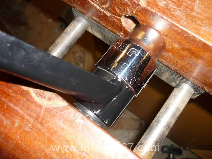 Installing MGB V8 bushings using a socket