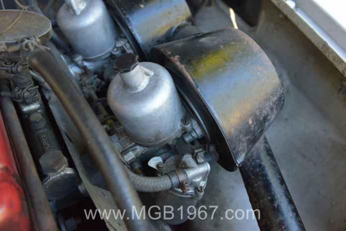 SU HS4 carburetors before refurbishing