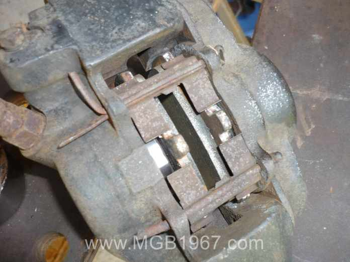 MGB GT front brake caliper