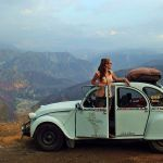 Citroen 2CV in mountains