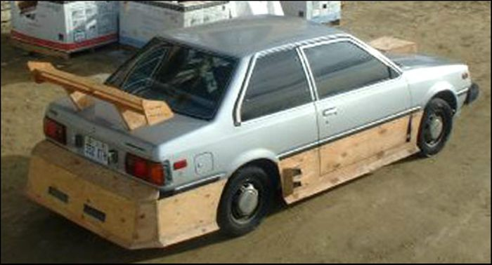 3 sheets of plywood bodykit