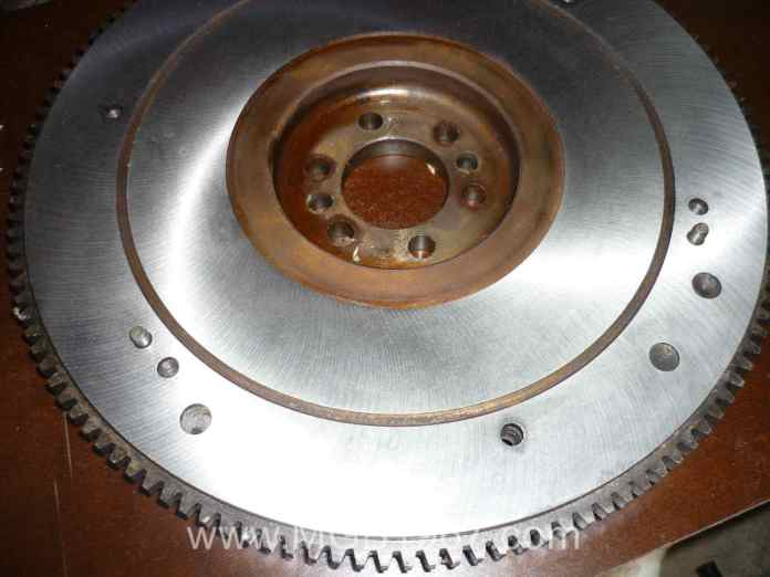 Resurfaced MGB flywheel