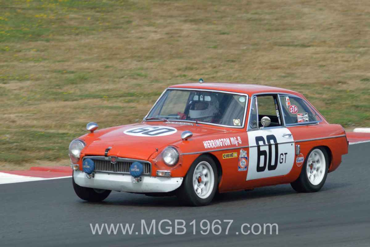 MGB racing at Portland International Raceway
