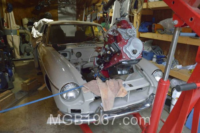 Lowering the MGB GT engine