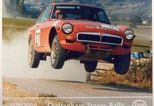 MGB GT at the Cheltrenham Stages Rally