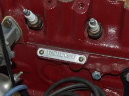 MGB 18V engine identification plate