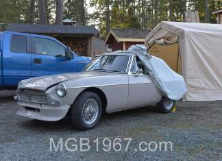 1967 MGB GT with spoiler